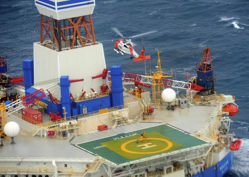 kulluk helipad coast guard image  lift winch 18 persons