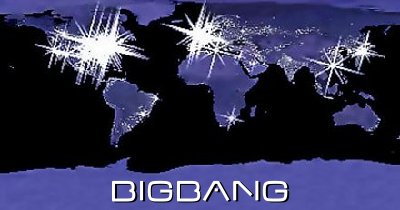 Big Bang card design - back of bifold card