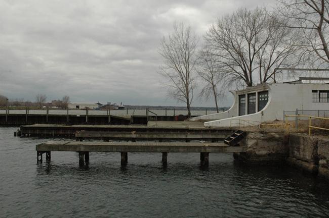 Historic Cleveland US Coast Guard Station pier - Milton Dyer