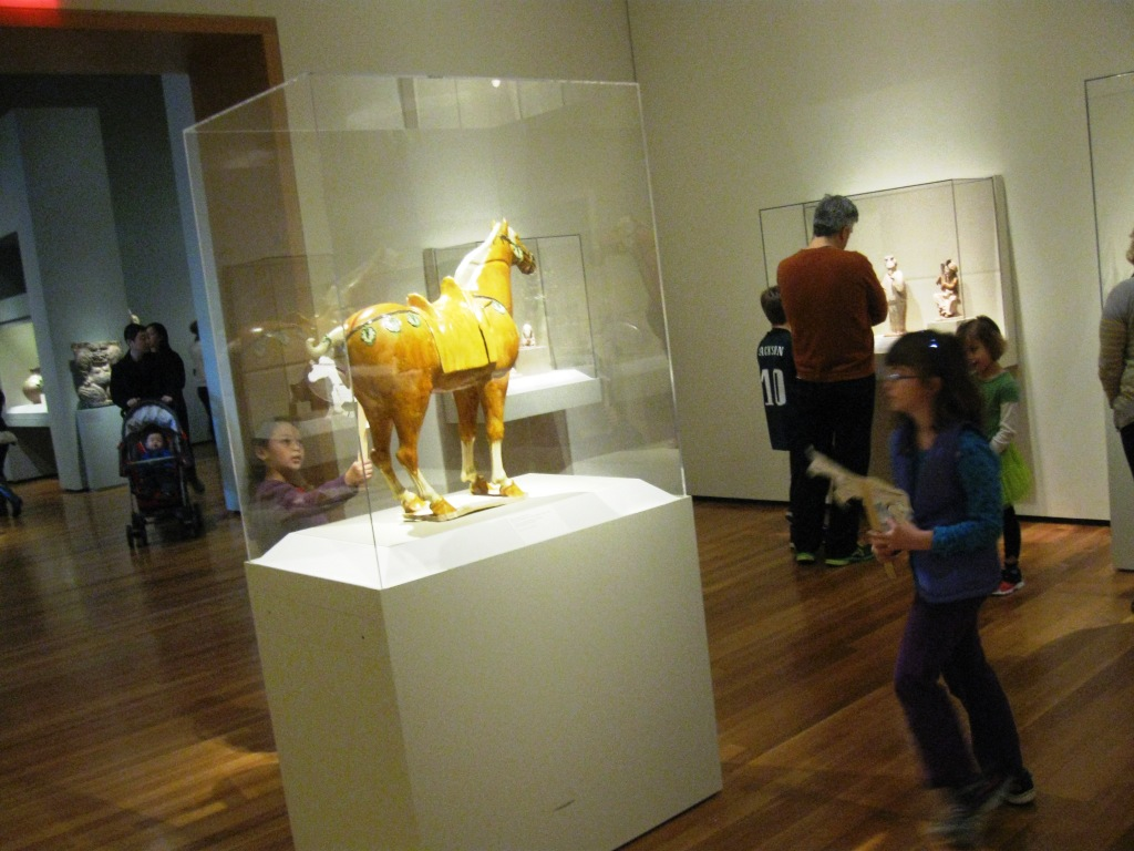kids crafted horse puppets today to celebrate the zodiac exhibit and Year of the Horse