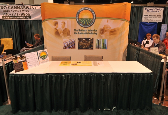 National Cannabis Industry Association booth at KushCon2, Denver, Colorado