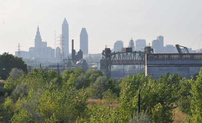 Ozone pollution on the Cleveland skyline