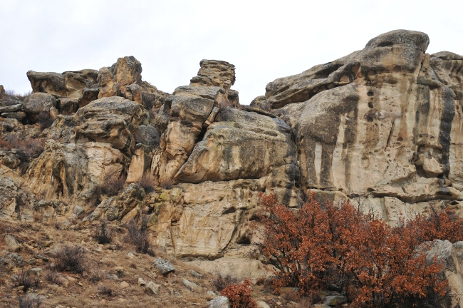 Rock formation of Archuleta Mesa, Jicarilla Apache Reservation, north of Dulce, New Mexico