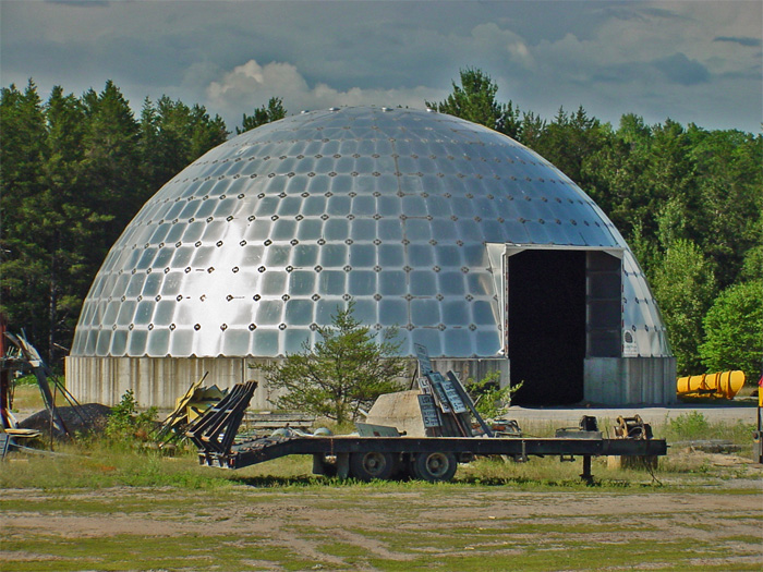 dome with four sided panel segments