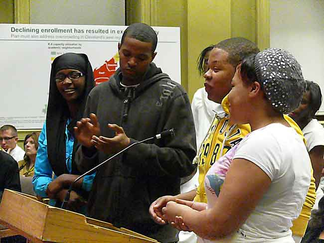 east high cleveland students address municipal school board image jeff buster 3.9.10