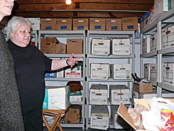 Ed Hauser house basement record storage image jeff buster