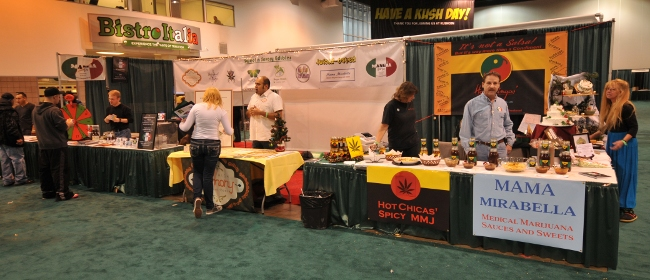 Collaboration of MMJ Food Products companies sharing booth space at KushCon2, and cooperating in operations in Colorado