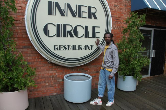 Edwin David by Inner Circle Restaurant sign