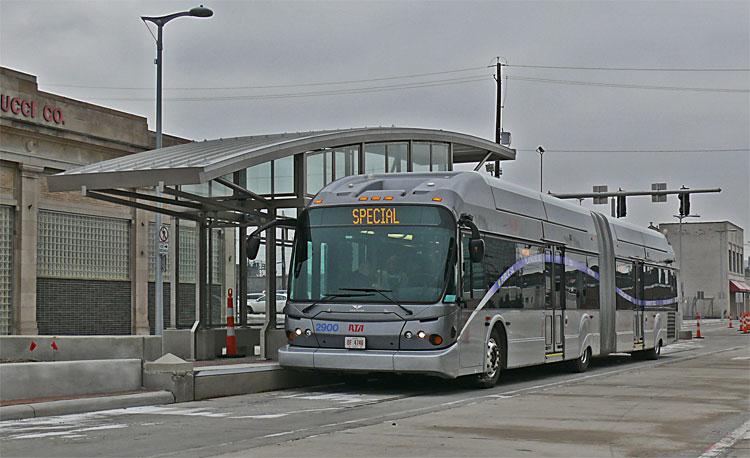 Euclid Corridor Bus At Kios on Street Design Diagram