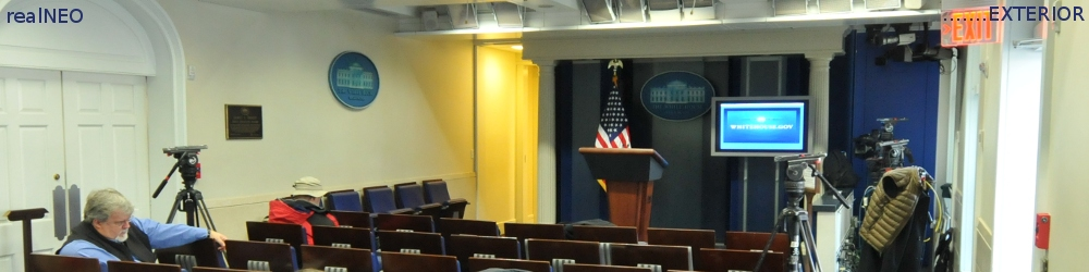 A Quiet Day in the White House Media Briefing Room, as Important News At the White House Was Ignored By The Media