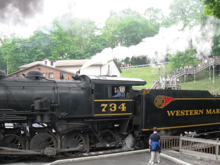 Coal fired engine on turnabout in Frostburg MD