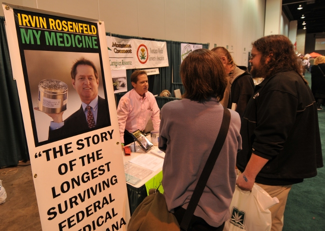Irvin Rosenfeld - longest surviving US Federal Marijuana patient, at KushCon2
