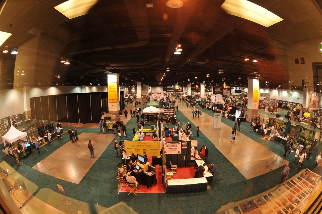 Fisheye view of KushCon2 Marijuana Industry Convention in Denver, Colorado, December 17-19, 2010
