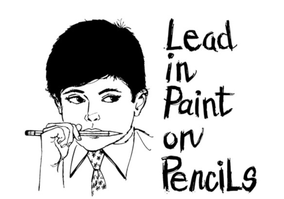 Lead poisoning from pencil paint