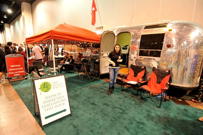 MMD Medical Doctors Airstream MMJ clinic at KushCon2, Denver, Colorado