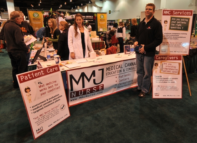 MMJ Nurse booth at KushCon2, Denver, Colorado 2010