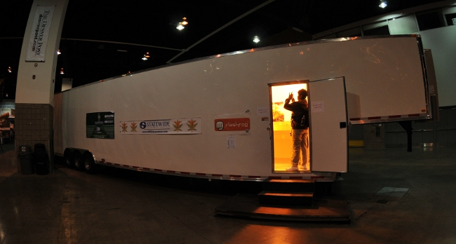 Semi trailer converted to self contained indoor growing system, optimized for medical marijuana