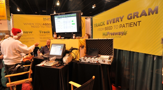 MJFreeway Cannabis Industry Software booth at KushCon2