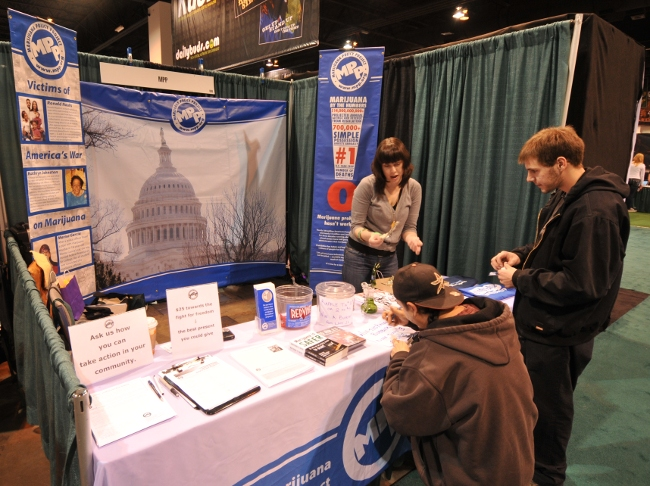 Marijuana Policy Project MPP Booth at KushCon2 in Denver, Colorado 2010