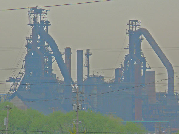 blast furnace arcelor mittal   cleveland ohio