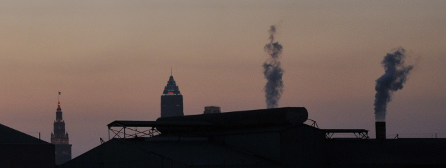 Mittal pollution and visibility check Cleveland Ohio July 16, 2010 8PM