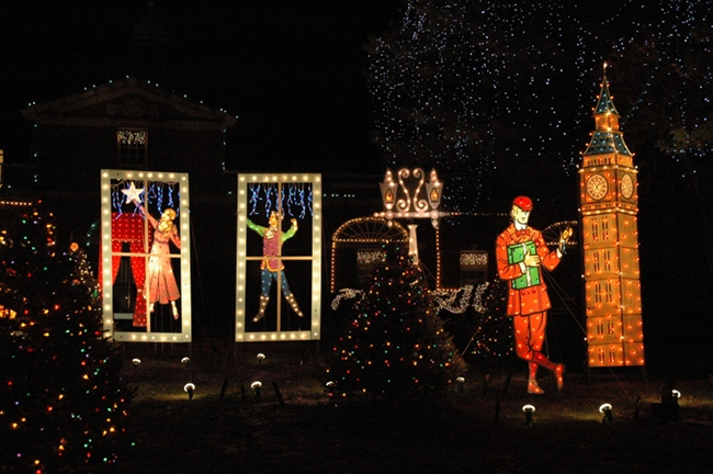 2009 holiday lighting display at ge lighting electrical institute