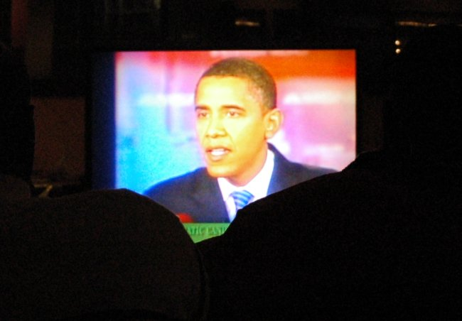Obama on TV during his Primary