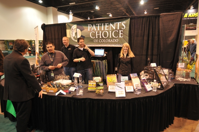 Patients Choice Marijuana Dispensary booth at KushCOn2