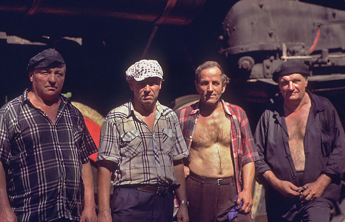 steam locomotive engineers and firemen on the trans Siberian in 2000 image jeff buster