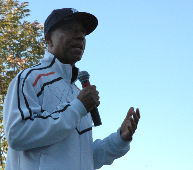 Russell Simmons speaking at the Russell Simmons Super Jam Get Out The Vote Rally for Obama, Cleveland Ohio