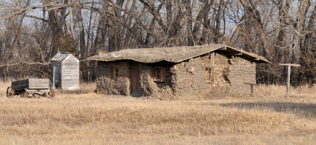 Sod House Museum in Gothenburg, Nebraska