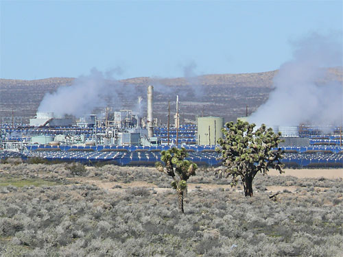 view north of solar steam generator boron california
