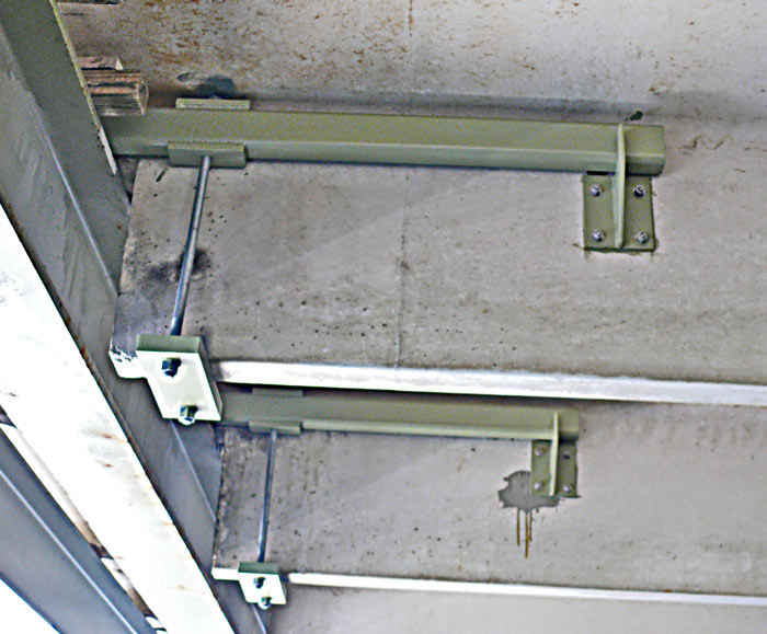 double t beam prestressed precast end support repair