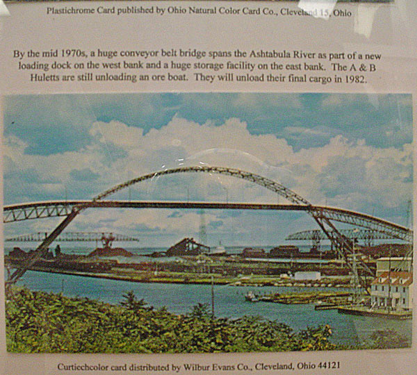 ashtabula ohio conveyor bridge post card