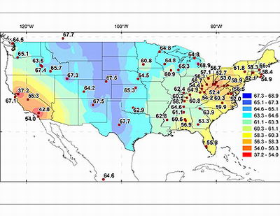 u s fossil fuel carbon dioxide map red most polluted blue least polluted