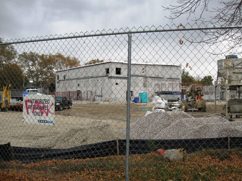 "Photo of ""new"" Paul Dunbar School under construction"
