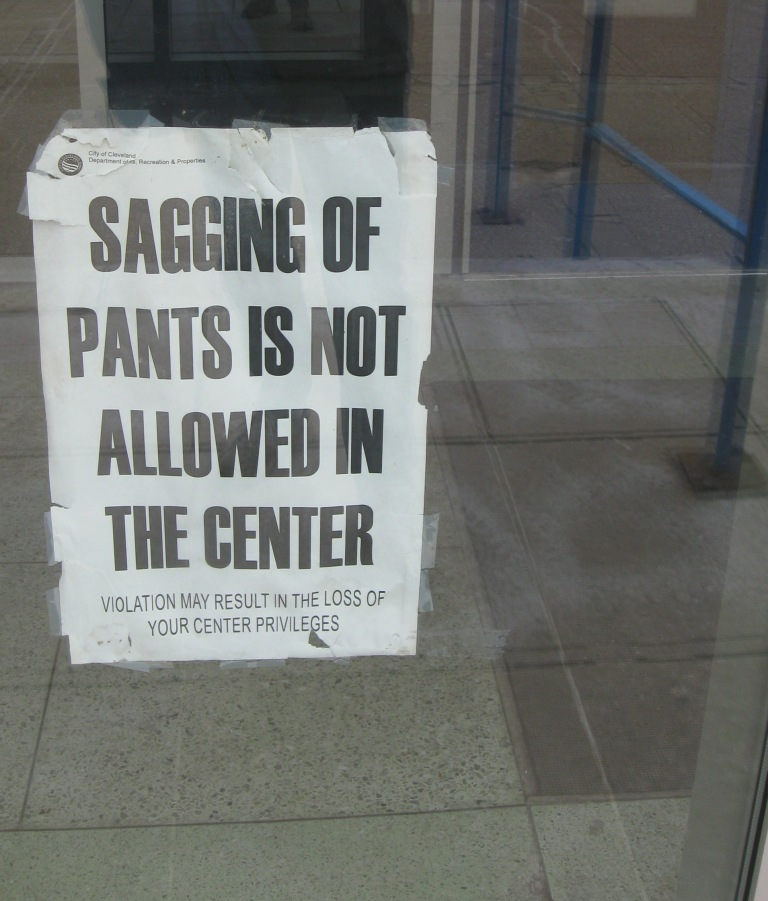 Signs at City of CLE rec centers