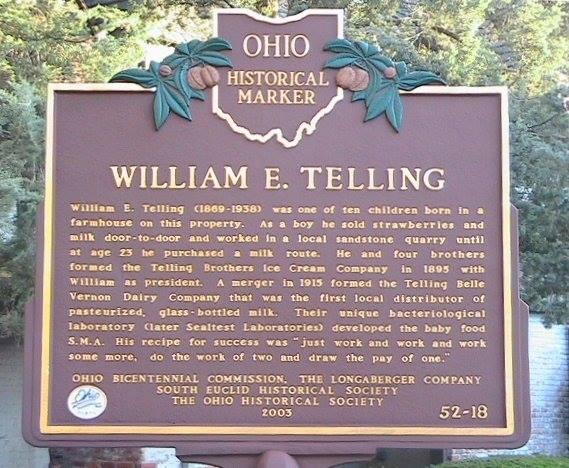 Telling Mansion designation as an Ohio Landmark