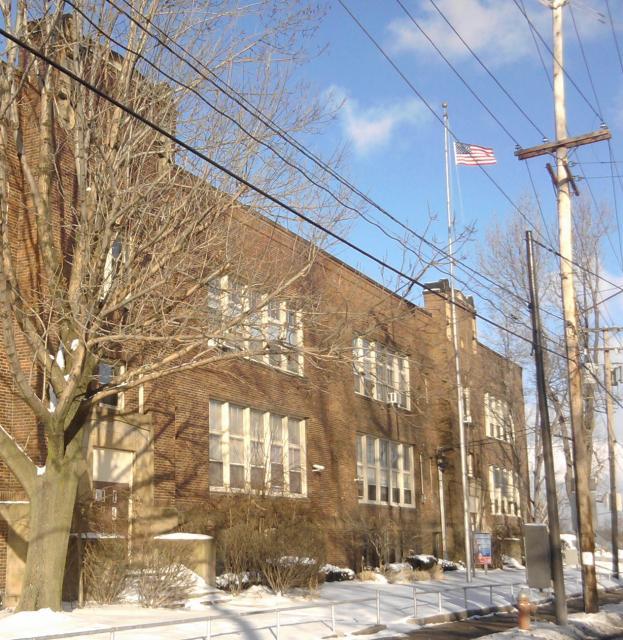 A New Flag flies at Horizon School, Denison Avenue, Cleveland Ohio