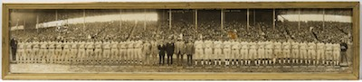Lot 1559. An Extremely Scarce 1924 Panoramic Photograph of the First Colored World Series Featuring the Hilldale Giants and the