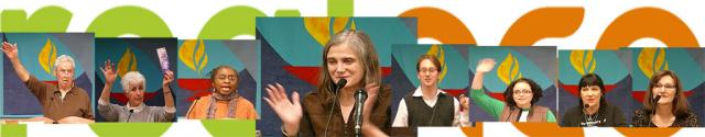 Amy Goodman and Citizens banner