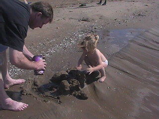 Daddy Building Sandcastles with his Little Girl At Edgewater....Priceless Quality Time