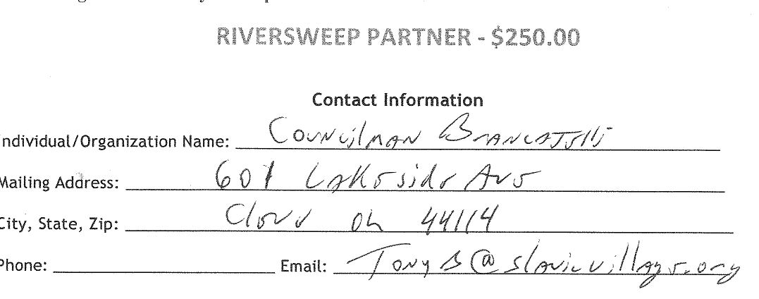 Riversweep Partner - Tony B at Slavic Village