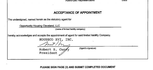 OPPORTUNITY HOUSING CLEVELAND, LLC aka CHN Partnership