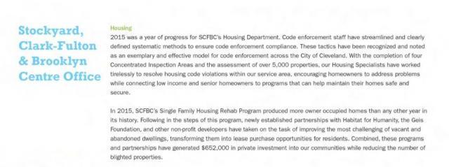 SCFBC -Detroit Shoreway Code enforcement