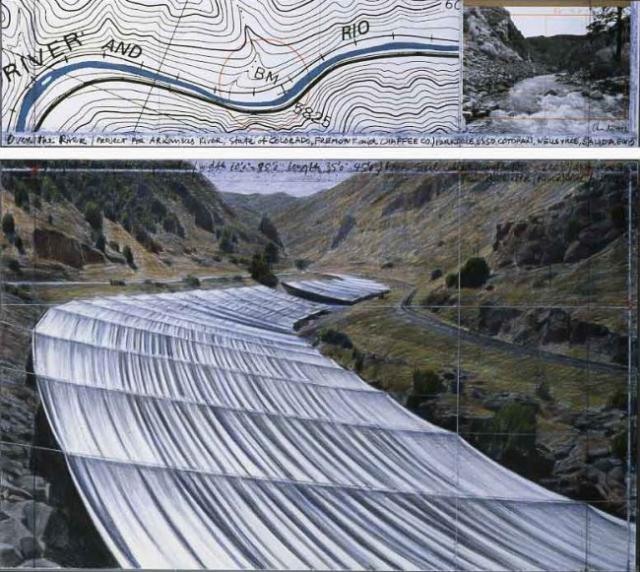 If it's Christo and Jeanne-Claude it'll look more like this...