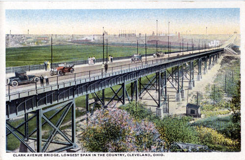 Clark Avenue Bridge, Longest Span in the Country, Cleveland, Ohio ca. 1917