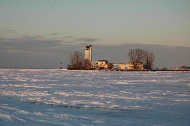 Lake Erie and Coast Guard Station from Whiskey Island