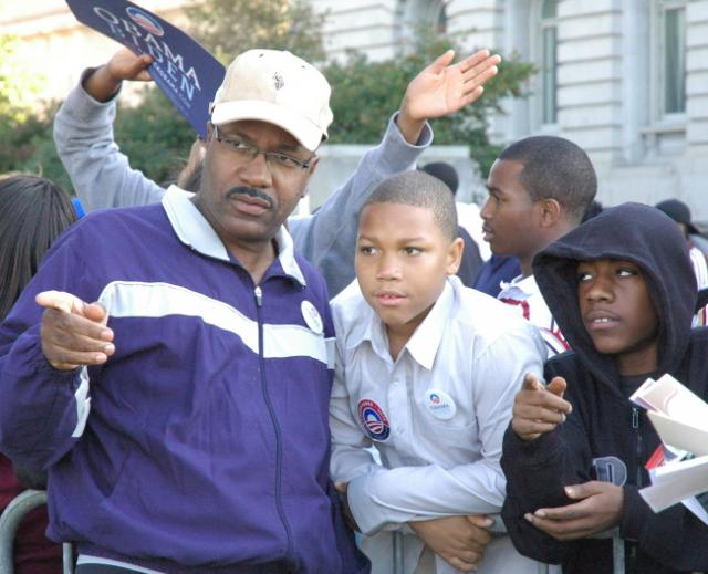 Cleveland 9th Ward City Councilman Kevin Conwell, friends and family, at The Russell Simmons Rally