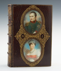 "A Cosway Style Binding by Bayntun with Double Portraits of Napoleon and Josephine, ""The Fair Sex"", 1894"